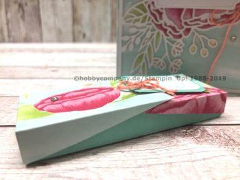 Klappbox basteln aus einer Grußkarte