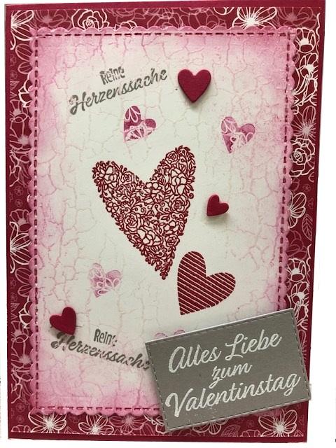 karte gestalten Valentinstag Karte gestalten   Basteln mit Papier und Stampin Up!