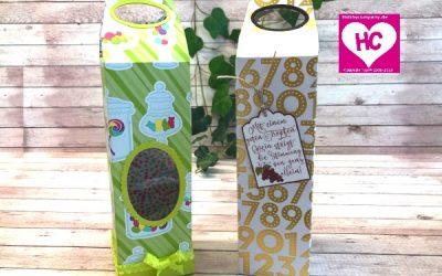 Verpackung für Flaschen basteln