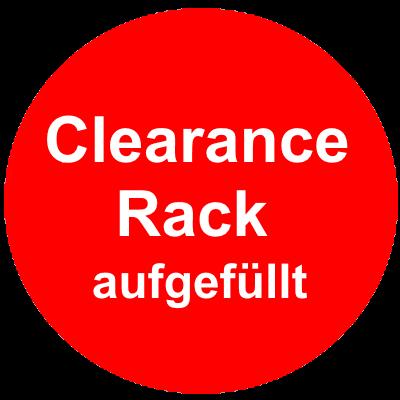 Clearance Rack Ausverkaufsliste