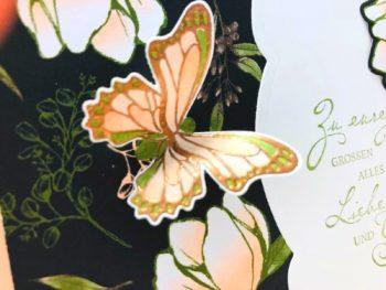 Karte basteln mit dem Set Magnoliengruß