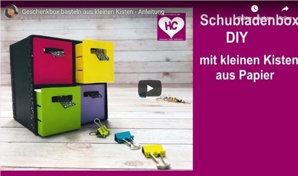 Geschenkbox basteln aus Kisten