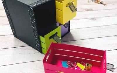 Geschenkbox basteln mit Kisten