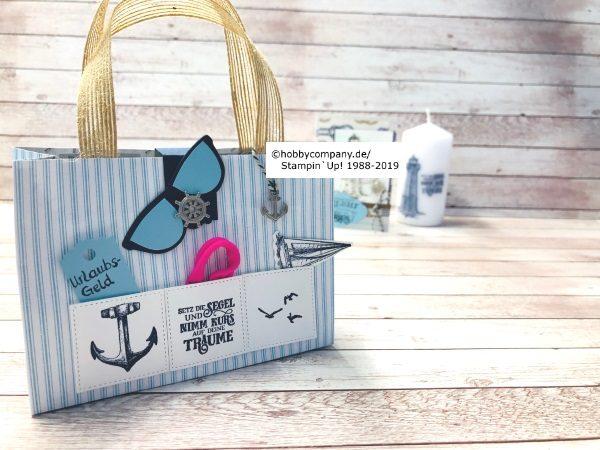 Geschenkverpackung Strandtasche