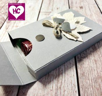 Anleitung Verpackung für Schokolade basteln
