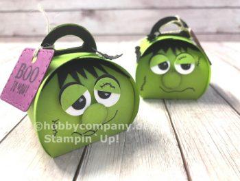 Halloweenverpackung basteln mit Mini-Zierschachtel