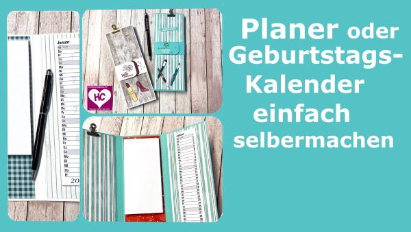Geburtstagskalender Basteln Basteln Mit Papier Und Stampin Up