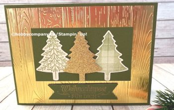 Weihnachtsgrüße mit Prägung Stampin Up