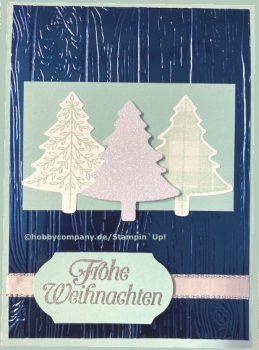 Weihnachtskarte mit Prägung Stampin Up