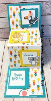 Geburtstagskarte basteln Bonanza Buddies
