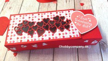 Klappbox Verpackung zum Valentinstag