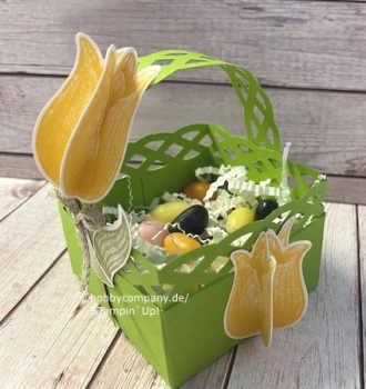 Osterkörbchen Tulpengrüße