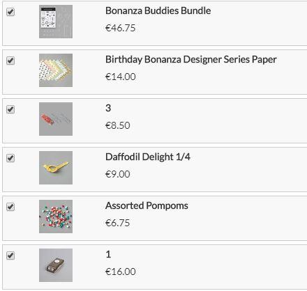 Geburtstagskarte Bonanza Buddies Stampin up