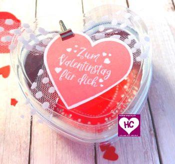 Verpackung zum Valentinstag
