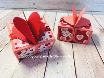 Verpackung basteln zum Valentinstag