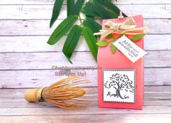 Verpackung mit gratis Produkten Glück+Liebe