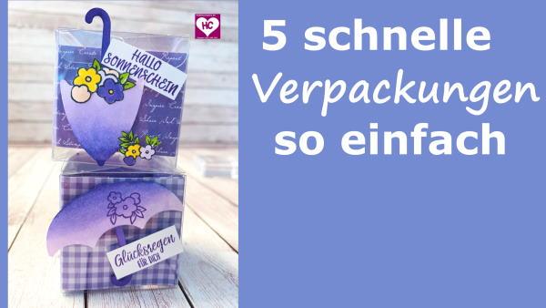 5 schnelle Verpackungen Video