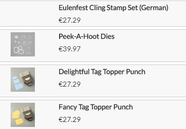 Eulenfest Stampin UP