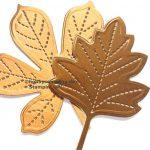 Herbst Deko metallic Blatt stanzen