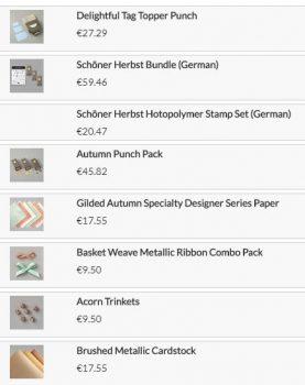 Verpackung - Stampin UP! Produkte
