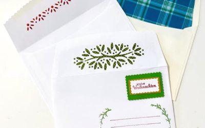 Umschlag gestalten passend zur Karte