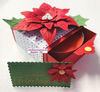 4 x kleine Geschenke verpacken für Weihnachten
