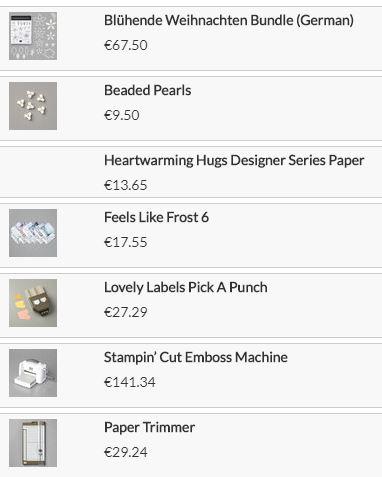 Stampin up Produkte Weihnachten