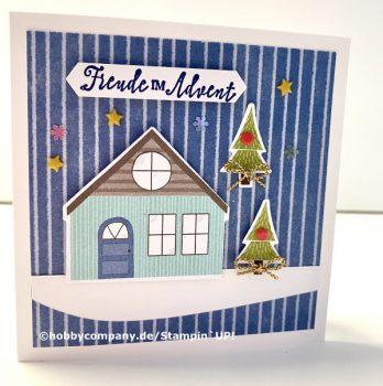 Tischdeko und Karten zu Weihnachten