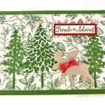 Weihnachtskarten basteln-In the Pines