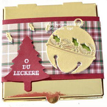 Goldene Pizzabox super einfache Verpackung