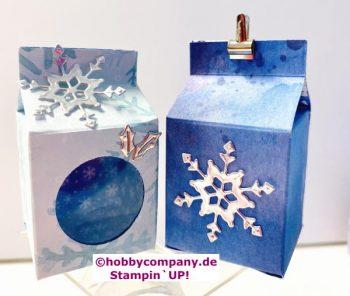 Schneeflockentraum Verpackung basteln