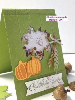 Schüttelkarte Herbstbunte Grüße