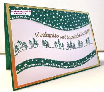 Schwungvolle Weihnachtskarte