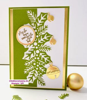 Weihnachtskarte und Teelicht basteln