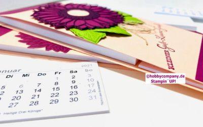 Mini-Kalender und Notizblock