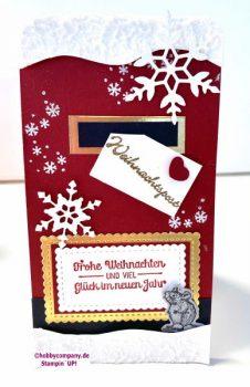 Weihnachtskarte Mailbox  mit Ratte