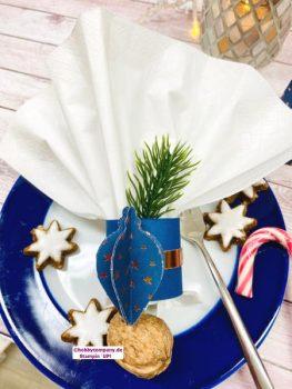 Weihnachtliche Tischdeko Serviettenhalter