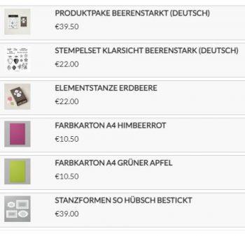 Stampin up Produkte für die Karten