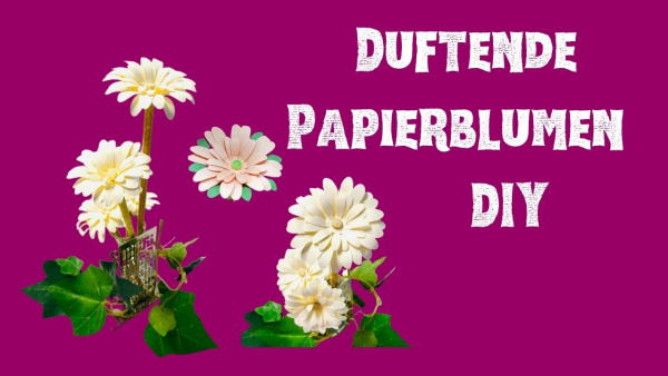 Papierblumen basteln Anleitung