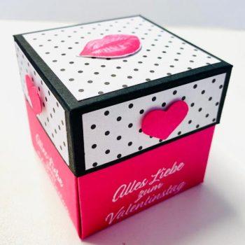 Explosionsbox zum Valentinstag und Geburtstag