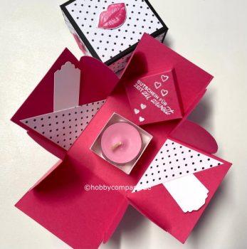 Explosionsbox zum Valentinstag