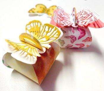 Mini-Zierschachtel mit Schmetterling
