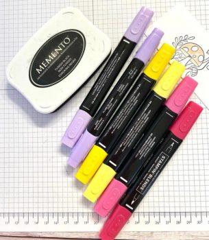 Stempel ausmalen 4 Stifte