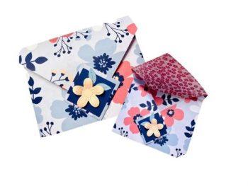 Umschlag falten Papierblüten