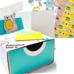 Verpackung mit Leckerei-Box und Schneckenpost
