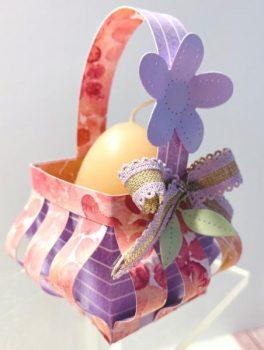 Körbchen für eine Eier-Kerze