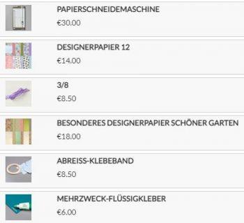 Produkte für das Osterkörbchen