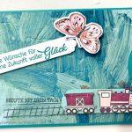 Gute Reise Ziehkarte oder Slidercard