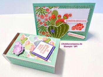 Leckerei Schachtel und Geburtstagskarte