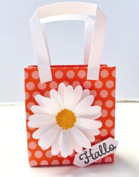 Kleine Bastelidee Mini-Geschenktasche